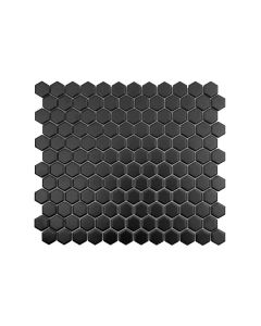 "Color Collection 1""x1"" Black Matte Hexagon"