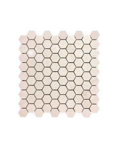 Serene Ivory 1.25x1.25 Hexagon Polished