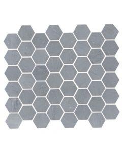 "Cubist Bardiglio* 2""Hexagon Mosaic Polished"