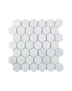 "Bianco Carrara Hex 2"" Polished"