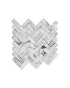 Bianco Cascia 1x3 Herringbone Polished