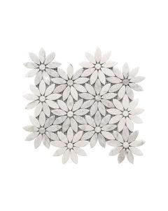 Rockart Daisy Flower Marble Mosaic 10x12