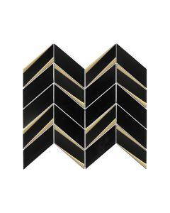 Envision Black Gold Chevron Glass