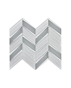 Envision White Silver Chevron Glass