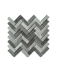 Fabric Dark Herringbone Glazed - Final Sale