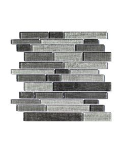 Final Sale - Fabric Dark Random Strip Glazed
