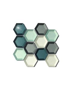 Fancy Foil Blue Hexagon