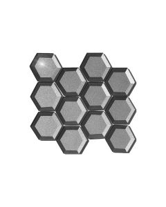 Fancy Foil Grey Hexagon