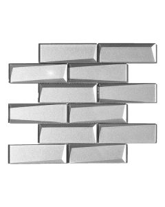 Straight Foil Silver 2x6 Beveled