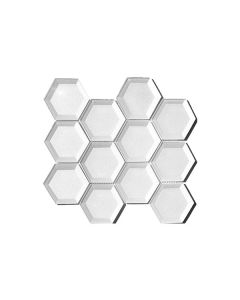 Fancy Foil White Hexagon