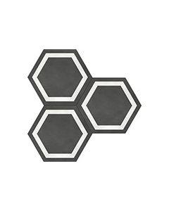 Form Graphite* Hexagon Frame Porcelain Tile 7x8