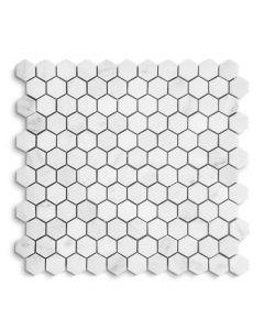 "Jeffrey Court* 1"" Hexagon West End White/Statuario 11.625x11.25"