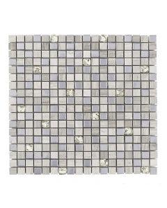Jeffrey Court* Platinum Pattern Mosaic Global Grey 11.75x11.75