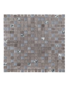 Jeffrey Court* Platinum Pattern Mosaic Transitional Taupe 11.75x11.75
