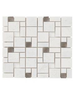 Jeffrey Court* Winward Plains Mosaic Iceberg 12x12