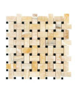 Jeffrey Court* Basket Weave Honey Onyx 12x12