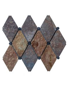 Pietra Opus Slate* Empire Mosaic Polished