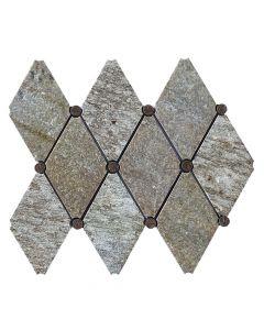 Pietra Opus Quartz* Empire Mosaic Polished