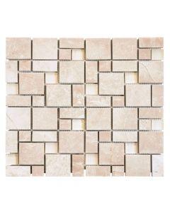 Jeffrey Court* Winward Plains Mosaic Almond Cream 12x12