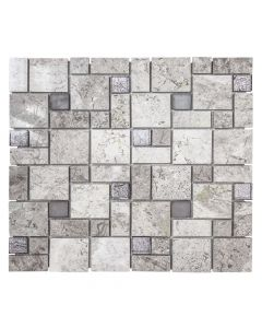 Jeffrey Court* Winward Plains Mosaic Stonehedge Grey 12x12