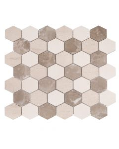 Jeffrey Court* Blended Mosaics Hex Medley 11x12.375
