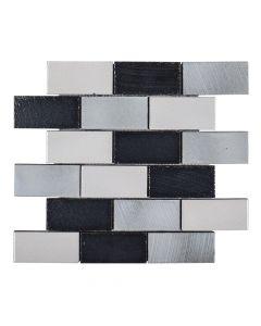 Jeffrey Court* 2x4 Brick Galvanized 12x12.375