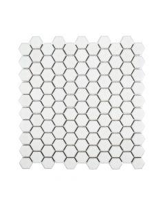 "Jeffrey Court* 1"" Hexagon Ivory 11.25x11.25"