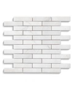 Jeffrey Court* 1x4 Brick Mosaic Statuario 11.75x11.5