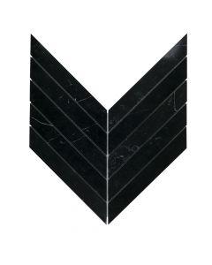Rotunda Nero Marquina* Chevron Mosaic Polished
