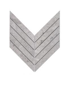 Rotunda Tunisian Grey* Chevron Mosaic Honed