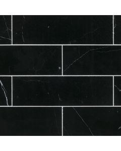 Jeffrey Court* 3x10 Field Tile - Nero Marquina