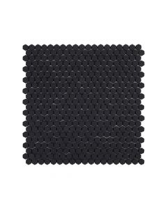 "Jeffrey Court* 5/8"" Hexagon Mosaic Black 12x12.25"
