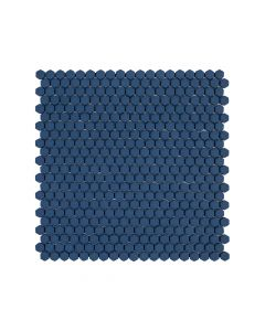 "Jeffrey Court* 5/8"" Hexagon Mosaic Navy 12x12.25"