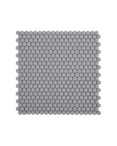 "Jeffrey Court* 5/8"" Hexagon Mosaic Grey 12x12.25"