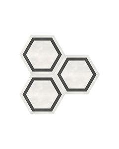 Form Ivory* Hexagon Frame Porcelain Tile 7x8