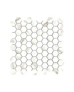Mayfair Calacatta Oro 1.25x1.25 Hexagon Polished