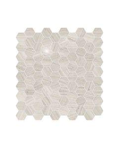 Mayfair Strada Ash* 1.25x1.25 Hexagon Polished