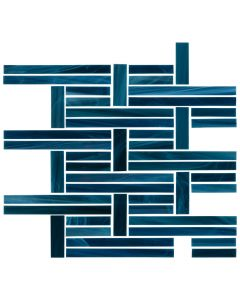 Cubist Cobalt* Perpendicular Mosaic Glossy