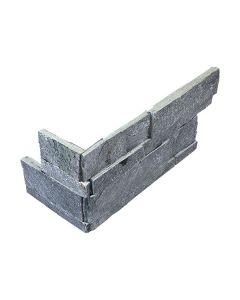 Quartzite Ledgestone Astro Silver Splitface Corner