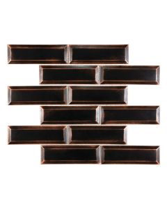 Satin Metal Oil Rubbed Bronze* 2x6 Brick Mosaic