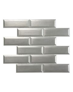 Satin Metal Pewter* 2x6 Brick Mosaic