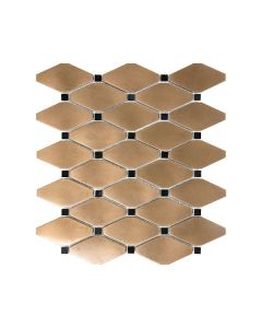 Satin Metal Bronze* Clipped Diamond Mosaics