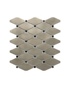 Satin Metal Nickel* Clipped Diamond Mosaic