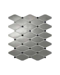 Satin Metal Pewter* Clipped Diamond Mosaics