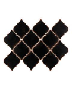 Satin Metal Oil Rubbed Bronze* Arabesque Mosaic