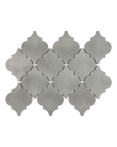 Satin Metal Pewter* Arabesque Mosaic