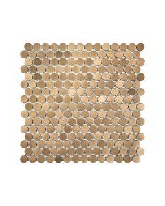 Satin Metal Bronze* Penny Round Mosaic