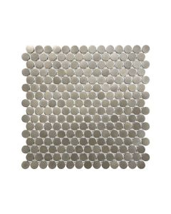 Satin Metal Nickel* Penny Round Mosaic