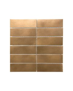 Satin Metal Bronze* 2x6 Stacked Mosaic