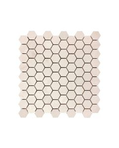 Serene Ivory* 1.25x1.25 Hexagon Honed